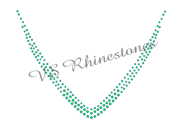 V-Neck Neckline Rhinestone Transfer - ON SALE