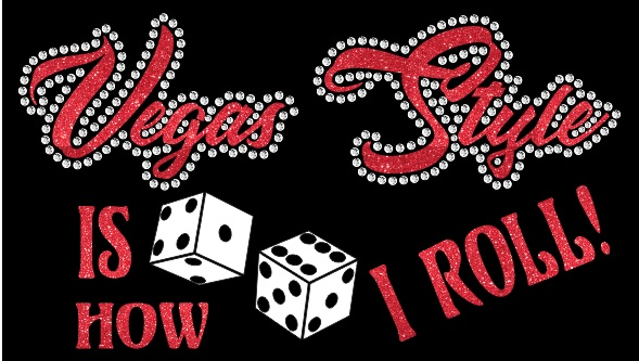 Vegas Style Vinyl and Rhinestone Transfer