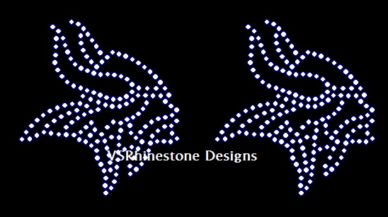 Viking Small Rhinestone Transfer (2)