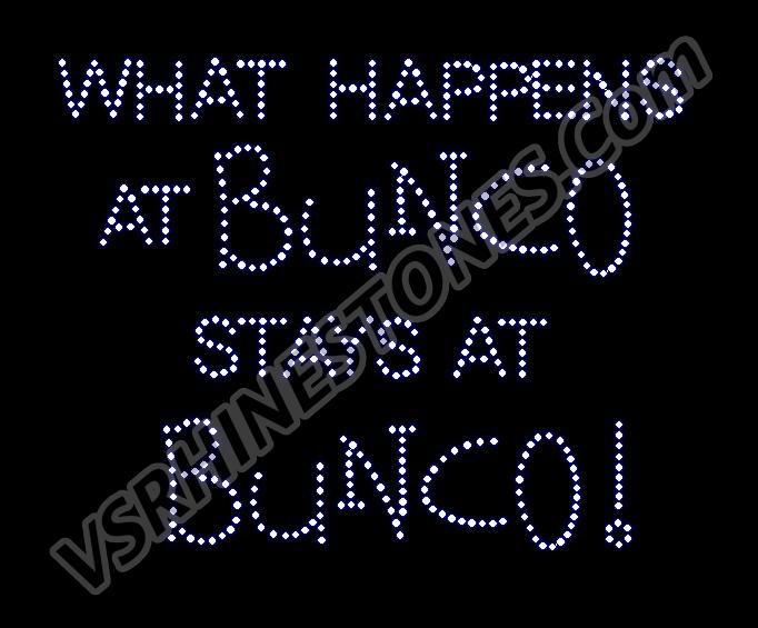 What Happens At Bunco Rhinestone Transfer Rp01200145