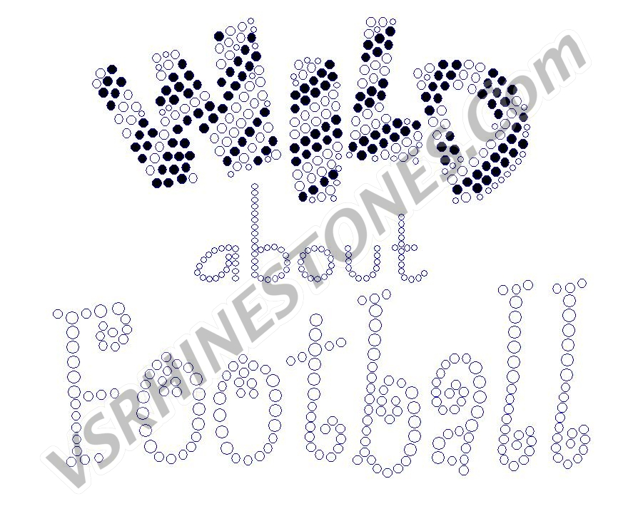 Wild about Football Rhinestone Transfer