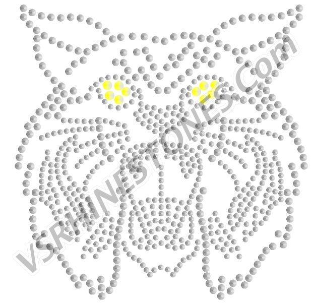 Wildcat Head Large Sequin - Royal Blue