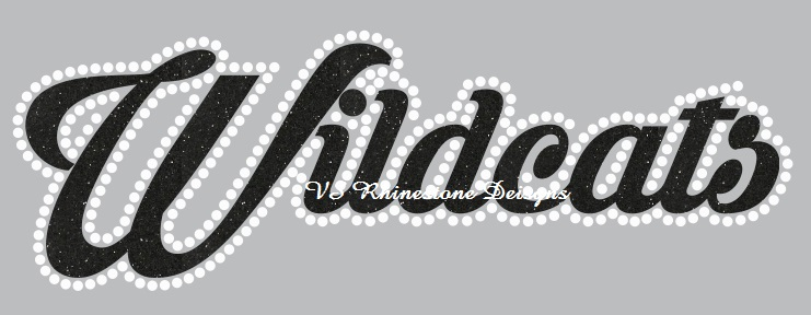 Wildcats Cursive Vinyl and Rhinestone Transfer