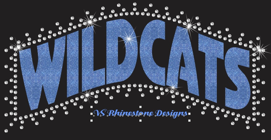 Wildcats Ban - Rhinestone and Vinyl Cut File Combo