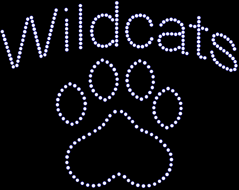 Wildcats Paw Large Rhinestone Transfer