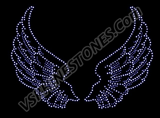 Angel Wings Rhinestone Transfer - Large