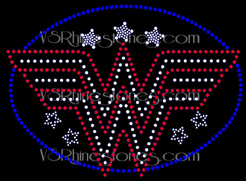 Wonder W Rhinestone Transfer Ww898142 5 91 Vs