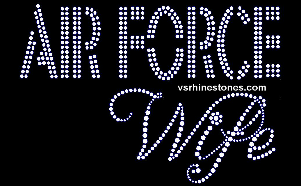 Air Force Wife Rhinestone Transfer