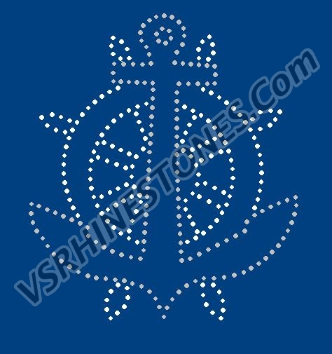 Anchor Rhinestone Transfer