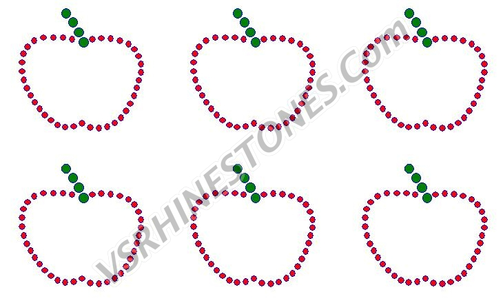 Apple Rhinestone Transfer Mini (6)