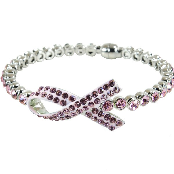 Pink Awareness Ribbon Bracelet - CLEARANCE