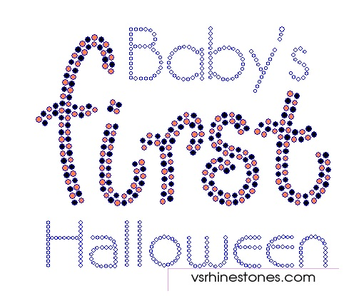 Baby's First Halloween Rhinestone Transfer