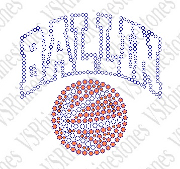 Ballin - Cap/Koozie/Left Chest Size Rhinestone Transfer