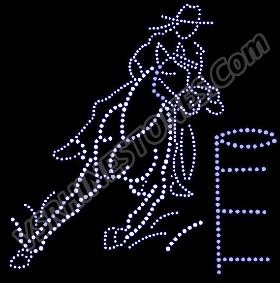 Barrel Racer Rhinestone Transfer