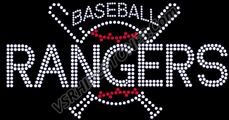 Baseball and Bats - Custom Rhinestone Transfer