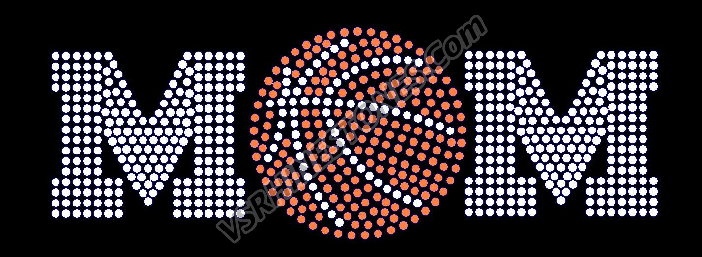 Basketball Mom Rhinestone Car Decal (STOCK)
