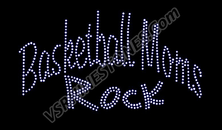 Basketball Moms Rock Rhinestone Transfer