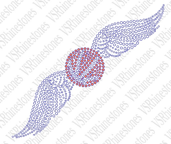 Basketball Wings - small Rhinestone Transfer