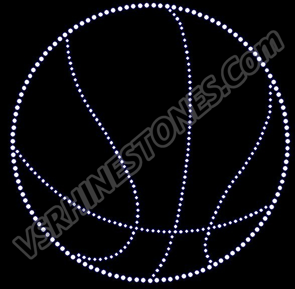 Basketball Outline Rhinestone Transfer