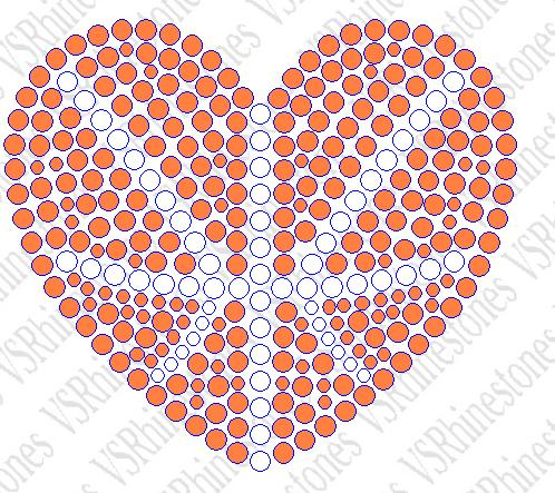 Basketball Heart Car Decal