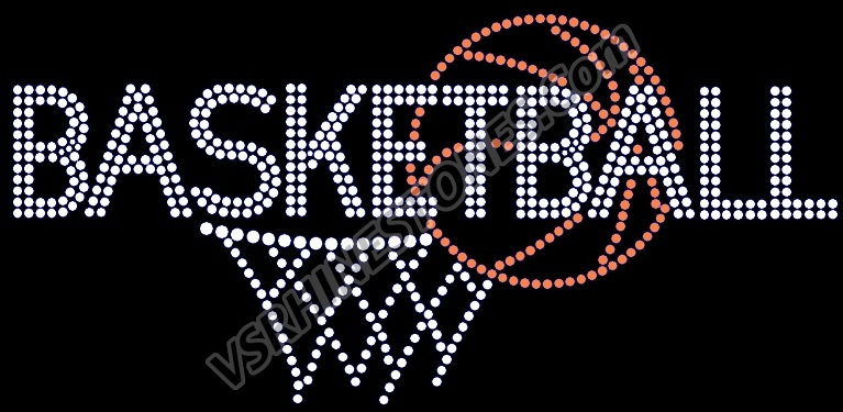 Basketball Net Rhinestone Transfer