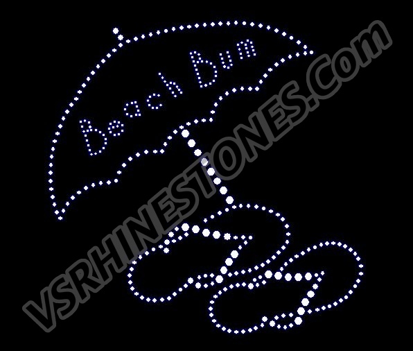 Beach Bum Rhinestone Transfer
