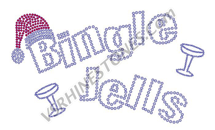 Bingle Jells Champagne Rhinestone Transfer