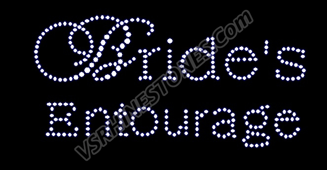 Bride's Entourage Rhinestone Transfer