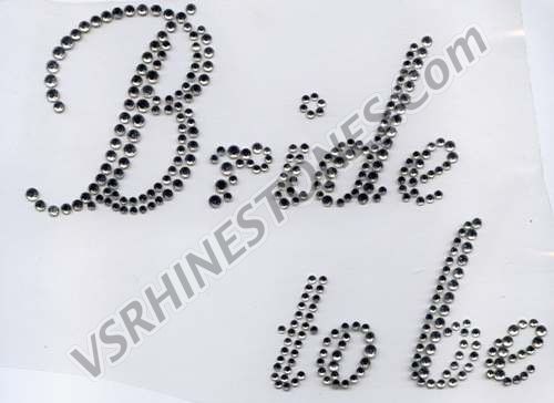 Bride to Be Rhinestone Transfer