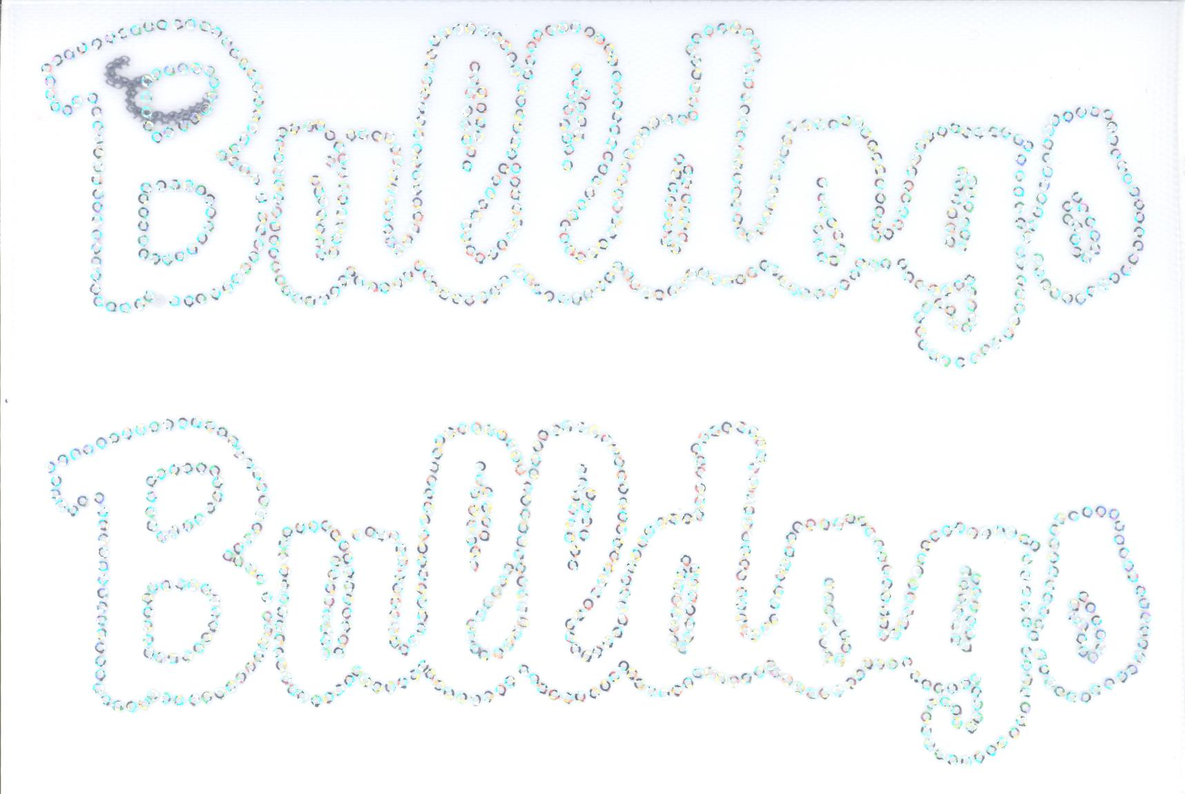 Bulldogs Sequin Outline - Set of 2