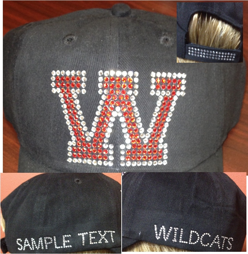 Varsity Letter Baseball Caps (6) - PLEASE MAKE SELECTIONS BELOW
