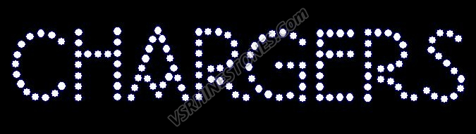 Chargers Word Rhinestone Transfer