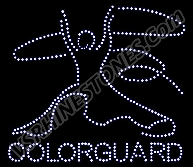 Color Guard Girl Rhinestone Transfer