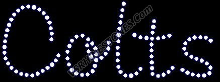 Colts Rhinestone Transfer -tab