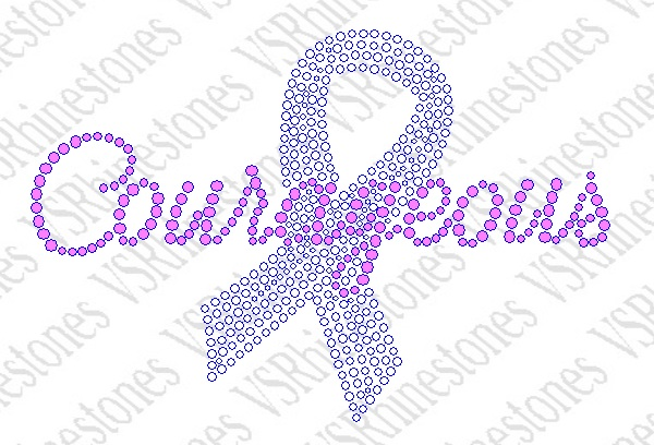 Courageous Ribbon Rhinestone Transfer - Select Color Below