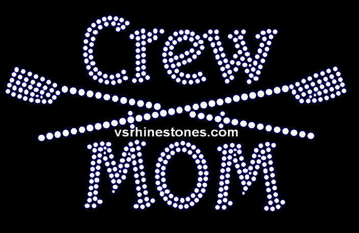 Crew Mom Rhinestone Transfer