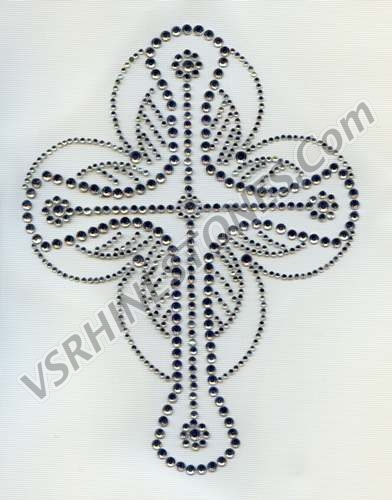 Crystal Cross Rhinestone Transfer