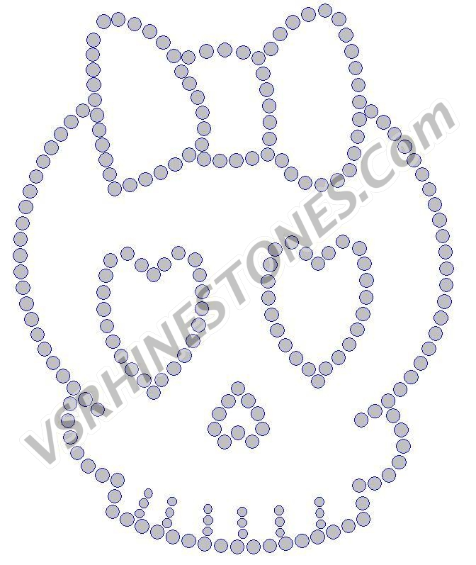 Girl Skull - Set of 2 Rhinestone Transfer - CLEARANCE