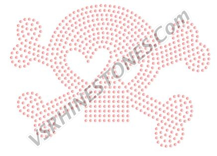 Cute Skull PINK- Sequin Design - CLEARANCE