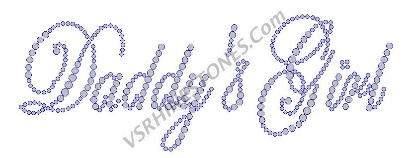 Daddy's Girl Rhinestone Transfer