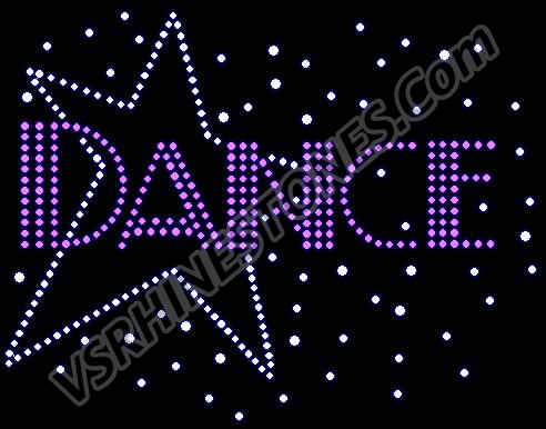 Dance Star Rhinestone Transfer - CLEARANCE
