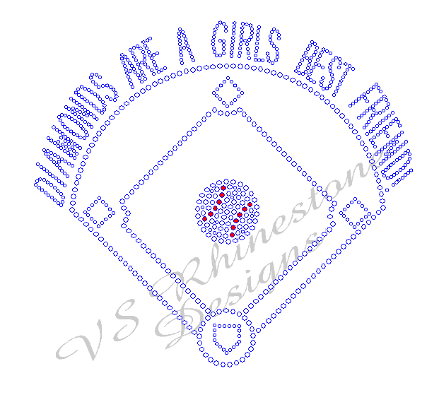 Diamonds Are A Girls Best Friend - Baseball Rhinestone Transfer