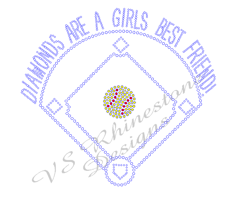Diamonds Are A Girls Best Friend - Softball Rhinestone Transfer