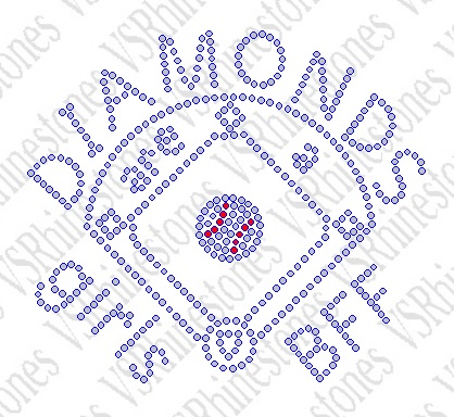 Diamonds Are A Girls BFF - Baseball - SMALL Rhinestone Transfer