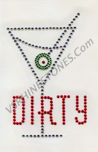 Dirty Martini Rhinestone Transfer