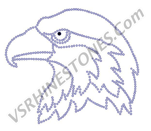 Eagle Head Rhinestone Transfer