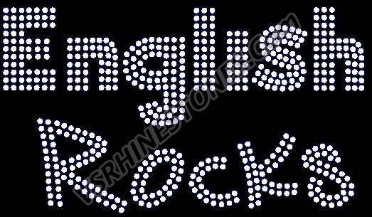 English Rocks Rhinestone Transfer