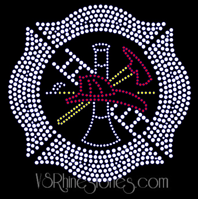 Firefighter Rhinestone Car Decal