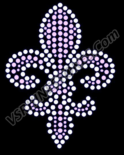 Fleur De Lis - Cap Size (Select fill color) - Set of 2