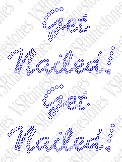 Get Nailed Rhinestone Transfer - Cap Size (2)